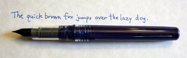 Platinum Preppy Cleanned with Ink