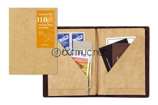 Bìa kraft kẹp giấy và thẻ cỡ hộ chiếu 13,5x10,5cm