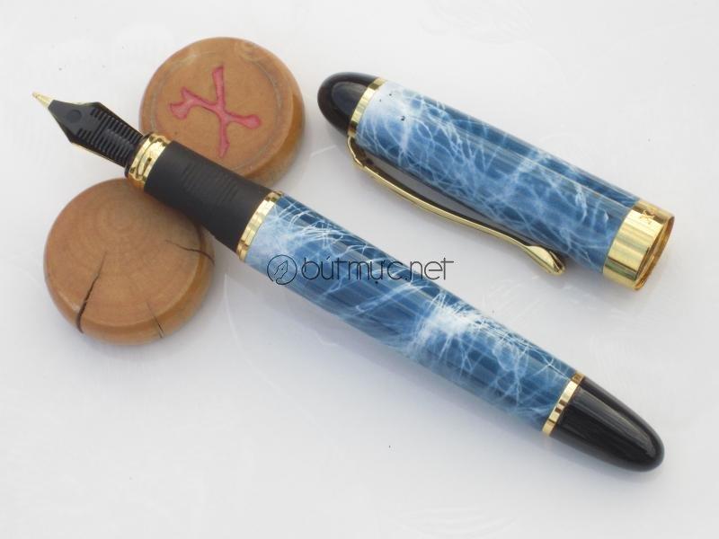 Jinhao X450 Vân cẩm thạch xanh