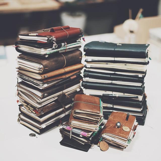 13 cuốn sổ kiểu Midori của một người dùng Hàn Quốc