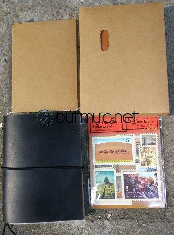 Sổ Midori Travelers Notebook cỡ hộ chiếu màu đen