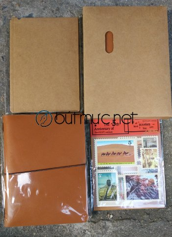 Sổ Midori Travelers Notebook cỡ hộ chiếu màu nâu vàng