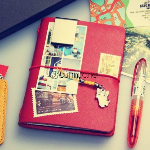 Sổ Lữ hành Midori cỡ hộ chiếu màu đỏ
