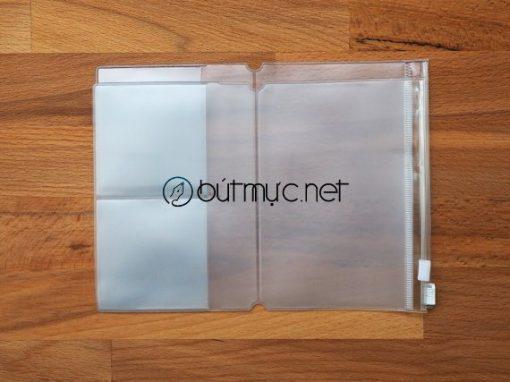 Túi PVC khóa Zip đựng thẻ, giấy tờ cỡ hộ chiếu
