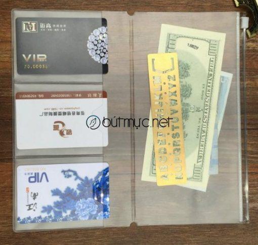 Túi PVC khóa Zip đựng thẻ, giấy tờ cỡ chuẩn