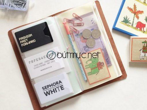 Túi zipper đựng thẻ và đồ dùng